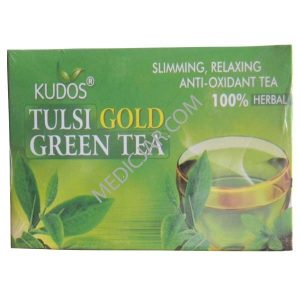 Kudos Tulsi Gold Green Tea (2g x 25 tea bags) Pack of 2