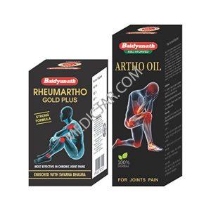 Baidyanath Rheumartho Gold plus - 30 Cap + Artho oil(Combo)