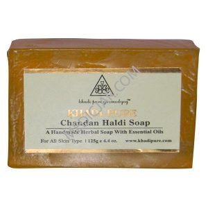 Khadi Pure Chandan Haldi Soap (Pack of 3)
