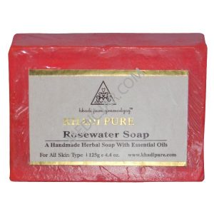 Khadi Pure Rosewater Soap (Pack of 3)