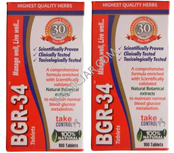 Aimil BGR-34 Tablets (Pack of 2)