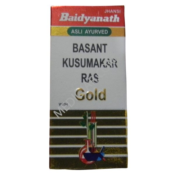 Baidyanath Basant Kusumakar Ras with Gold (10 Tabs)